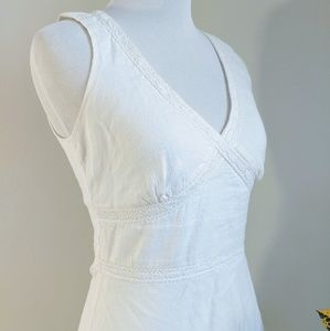 Banana Republic White 100% Linen Dress